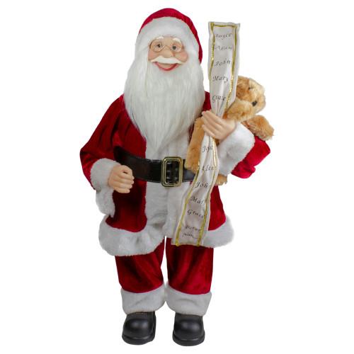 """24"""" Standing Santa Christmas Figure with Christmas Tree - IMAGE 1"""