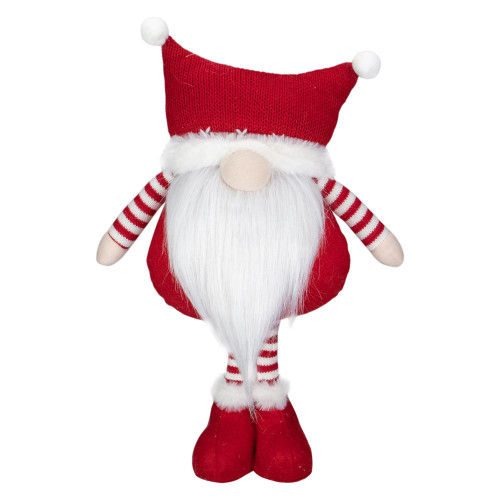 """18.5"""" Plush Red and White Standing Tabletop Gnome Christmas Decoration - IMAGE 1"""