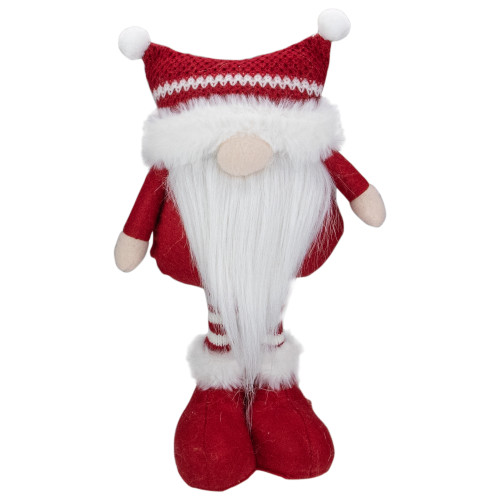 "12.5"" Red and White Standing Tabletop Christmas Gnome Figure - IMAGE 1"