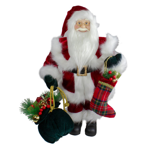 "18"" Standing Santa Christmas Figure with Presents - IMAGE 1"