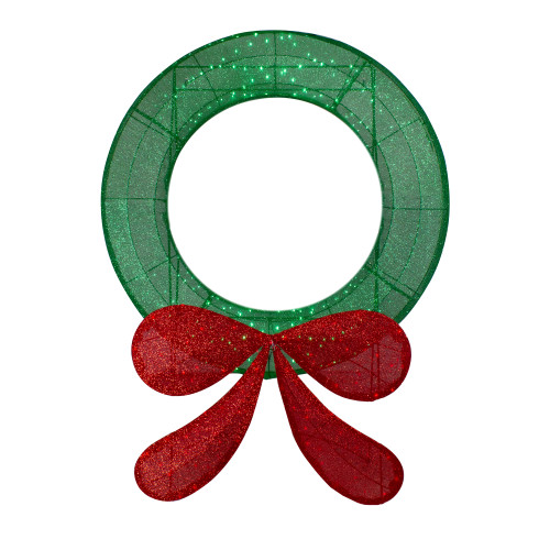 "48"" Commercial-Sized Lighted Tinsel Christmas Wreath Outdoor Decoration - IMAGE 1"