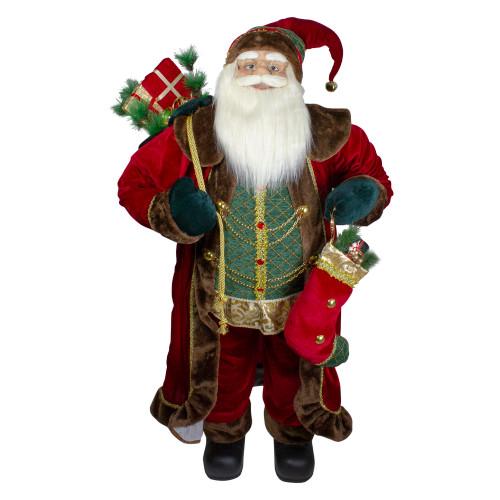 4' Standing Santa Christmas Figure with Presents - IMAGE 1