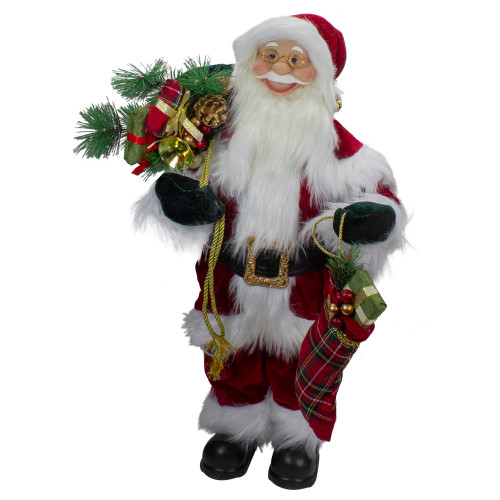 2' Standing Santa Christmas Figure with Presents - IMAGE 1