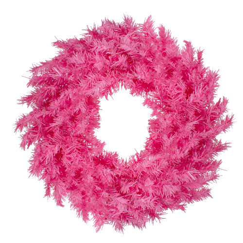 "24"" Pink Spruce Artificial Christmas Wreath, Unlit - IMAGE 1"