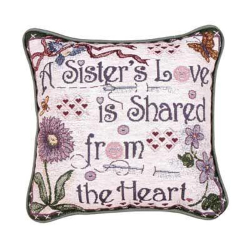 """Sister Decorative Accent Throw Pillow 12"""" x 12"""" - IMAGE 1"""
