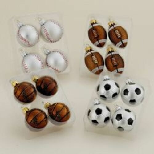 "Club Pack of 96 Sports Ball Shaped Shatterproof Christmas Ornaments 2.5"" - IMAGE 1"