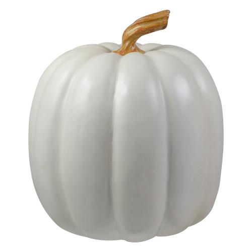 "8"" White Pumpkin Autumn Harvest Tabletop Decoration - IMAGE 1"