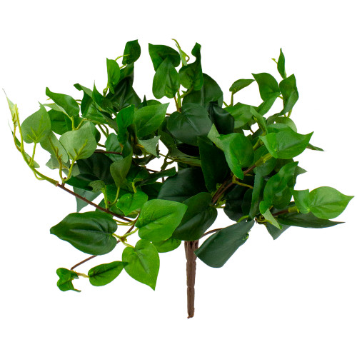"""12"""" Artificial Craft Medium Philodendron Two Tone Green Plant with 106 Leaves - IMAGE 1"""
