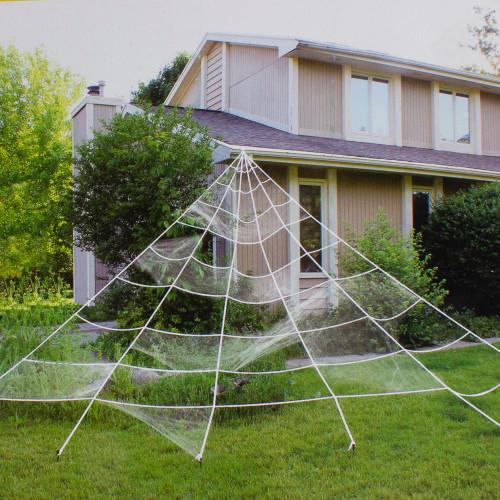 9.8' Giant Outdoor Spider Web Halloween Decoration - IMAGE 1