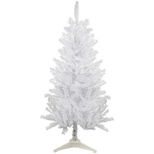 4' Medium White Canadian Pine Artificial Christmas Tree - Unlit - IMAGE 1