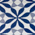 4' x 6' Blue and White Floral Rectangular Outdoor Area Rug - IMAGE 4