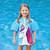 "18-Inch Turquoise Girls Swim Shirt ""Making Magic"" Floaties With a Unicorn - IMAGE 3"