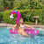 """60"""" Inflatable Flamingo wimming Pool Sling Chair Pool Float - IMAGE 3"""