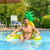 """60"""" Inflatable Pineapple Swimming Pool Sling Chair Pool Float - IMAGE 2"""