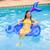 "60"" Inflatable Mermaid Tail Swimming Pool Sling Chair Pool Float - IMAGE 2"