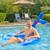 "60"" Inflatable Mermaid Tail Swimming Pool Sling Chair Pool Float - IMAGE 3"