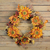 Sunflower and Berry Artificial Floral Wreath, Yellow 24-Inch - IMAGE 4