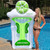 Inflatable Green and White Novelty Margarita Swimming Pool Floating Raft, 10-inch - IMAGE 3
