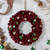 Red Pine Cone and Berry Artificial Christmas Wreath - 12-Inch, Unlit - IMAGE 2