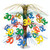 """Pack of 6 Yellow and Green Happy 30th Birthday Party Cascading Table Centerpieces 18"""" - IMAGE 1"""