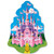 """Club Pack of 12 Pink and Purple Fairytale Princess Castle Birthday Party Wall Decors 16.5"""" - IMAGE 1"""