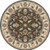 8' Traditional Gray and Beige Hand-Tufted Round Wool Area Throw Rug - IMAGE 2