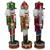"""Set of 3 Red Sequin Jacket Wooden Christmas Nutcrackers 14.25"""" - IMAGE 2"""