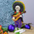 """10"""" Purple and Black Day of the Dead with Guitar Halloween Tabletop Figurine - IMAGE 2"""