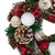 """10"""" Green and White Frosted Pine Cone and Berry Artificial Christmas Wreath - Unlit - IMAGE 3"""