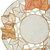 """12"""" White and Beige Embroidered Fall Leaf Thanksgiving Doily - IMAGE 3"""