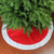 """48"""" Red and White Traditional Christmas Tree Skirt - IMAGE 2"""