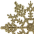 "Club Pack of 24 Gold Glamour Glitter Snowflake Christmas Ornaments 4"" - IMAGE 3"