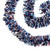 15' Red, White and Blue Wide Cut Patriotic Tinsel Christmas Garland - Unlit - IMAGE 1