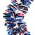 15' Red, White and Blue Wide Cut Patriotic Tinsel Christmas Garland - Unlit - IMAGE 2