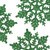 "Club Pack of 24 Xmas Green Glitter Snowflake Christmas Ornaments 4"" - IMAGE 2"