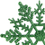 "Club Pack of 24 Xmas Green Glitter Snowflake Christmas Ornaments 4"" - IMAGE 3"
