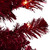 6' Pre-Lit Pencil Red Artificial Christmas Tree - Clear Lights - IMAGE 2