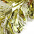 50' Gold and White Wide Cut Christmas Tinsel Garland - Unlit - IMAGE 2