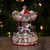 6.5 Ivory and Gold Animated Musical Clown and Cupid Carousel Tabletop Decoration - IMAGE 2
