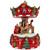 """6.5"""" Red Animated Musical Santa and Reindeer Carousel Christmas Music Box - IMAGE 3"""