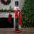"""36"""" Red and Green Christmas Nutcracker Soldier with Horn - IMAGE 2"""