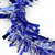 "50' x 4"" Blue and White Wide Cut Hanukkah Garland - Unlit - IMAGE 2"