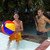 24-Inch Inflatable Red and Blue Beach Ball Swimming Pool Toy - IMAGE 2