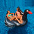 Inflatable Black Giant Swan Swimming Pool Ride-On Float Toy, 75-Inch - IMAGE 2