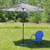 8' Outdoor Patio Market Umbrella with Hand Crank and Tilt, Blue and White Stripe - IMAGE 6
