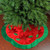 "48"" Red and Green Sequined Poinsettia Christmas Tree Skirt - IMAGE 2"