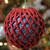 Glittered Red and Blue Shatterproof Christmas Ball Ornament 4.5'' (115mm) - IMAGE 2