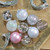 """9ct Silver 3-Finish Shatterproof Christmas Ball and Onion Ornaments 3.75"""" (95mm) - IMAGE 2"""