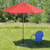 9ft Outdoor Patio Market Umbrella, Red and Cherry Wood - IMAGE 3