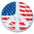 Red and Blue Stars, Stripes, Peace Sign Swimming Pool Float, 60-Inch - IMAGE 1